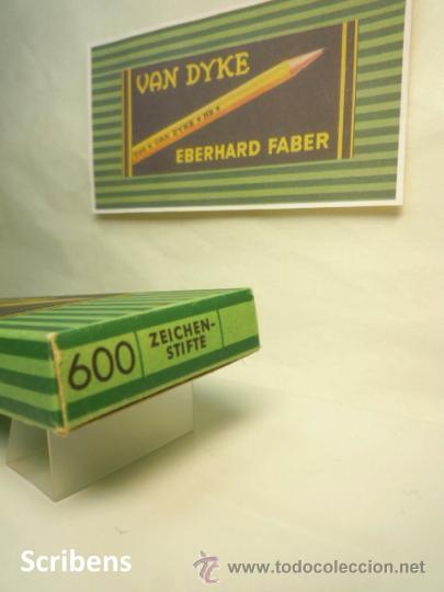 Escribanía: EBERHARD FABER, ANTIGUA CAJA CON 12 LÁPICES GRAFITO VAN DYKE Nº 600 HB. 1930s - Foto 3 - 109393739