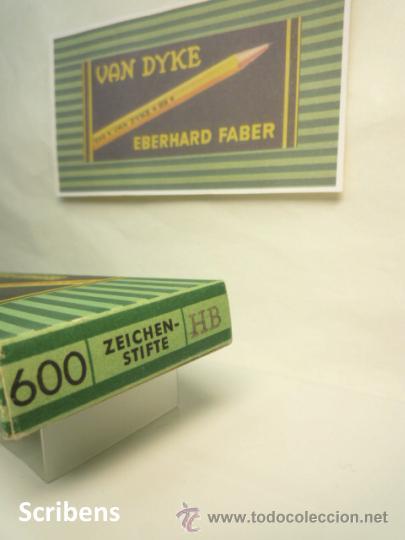 Escribanía: EBERHARD FABER, ANTIGUA CAJA CON 12 LÁPICES GRAFITO VAN DYKE Nº 600 HB. 1930s - Foto 4 - 109393739