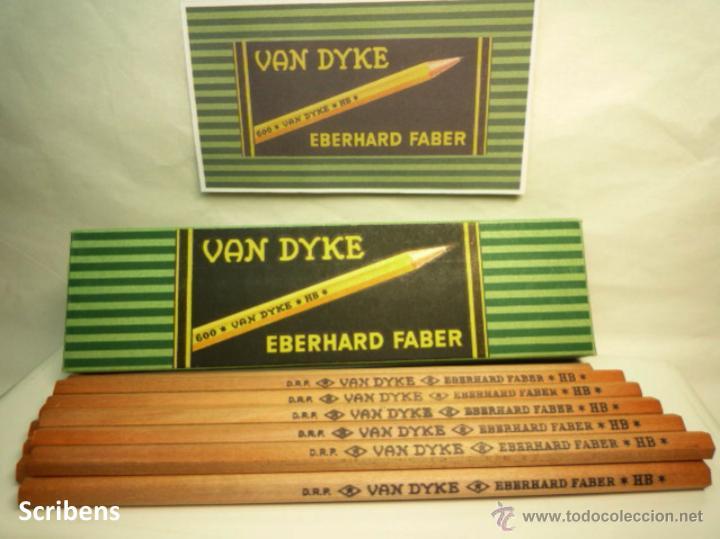 Escribanía: EBERHARD FABER, ANTIGUA CAJA CON 12 LÁPICES GRAFITO VAN DYKE Nº 600 HB. 1930s - Foto 6 - 109393739