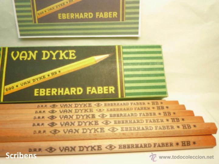 Escribanía: EBERHARD FABER, ANTIGUA CAJA CON 12 LÁPICES GRAFITO VAN DYKE Nº 600 HB. 1930s - Foto 9 - 109393739