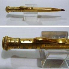 Escribanía: ANTIGUO PORTAMINAS EN METAL DORADO ART DECO-PRINCIPIOS S.XX. Lote 54568138
