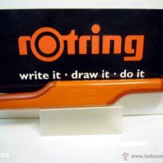 Escribanía: ROTRING, ANTIGUO PORTAGOMAS DOBLE CON GOMAS TINTA CHINA Y LÁPIZ, BI-RAZOR. GERMANY 80'S. Lote 66203970