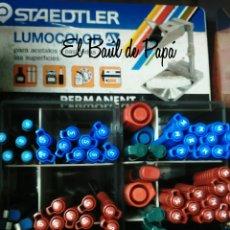Escribanía: STAEDTLER LUMOCOLOR, AÑOS 80-90. NUEVOS. Lote 54958337