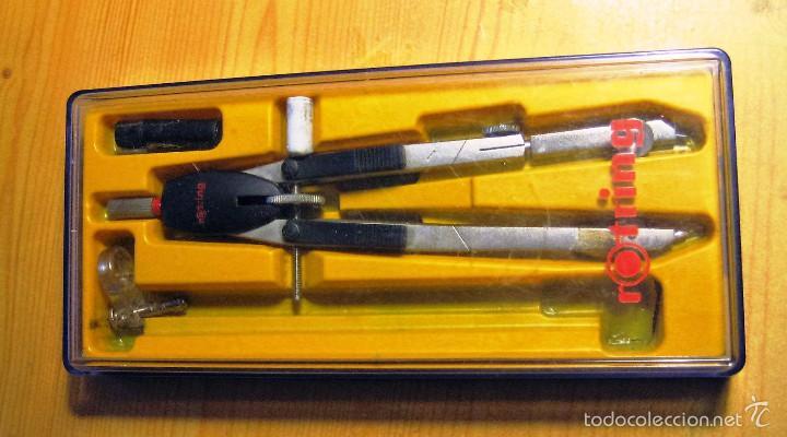 CAJA DE COMPAS DIBUJO ROTRING (Plumas Estilográficas, Bolígrafos y Plumillas - Plumillas y Otros Elementos de Escribanía)