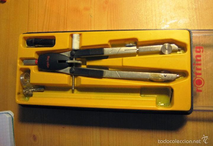 Escribanía: Caja de compas dibujo ROTRING - Foto 2 - 56212452
