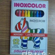 Escribanía: PINTURAS INOXCOLOR 12 UNIDADES (INOXCROM) ANTIGUOS. NUEVOS. AÑOS 80. Lote 58481665