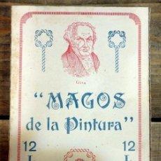 Escribanía: ANTIGUA CAJA DE CARTON DE LAPICES DE COLORES MAGOS DE LA PINTURA 12 COLORES. Lote 56413352