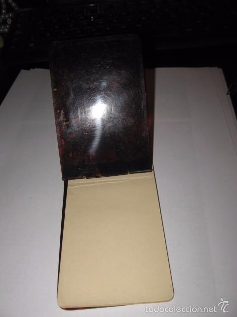 Escribanía: Libreta de anotar antigua en Carey pequeña libretita medida medida 10,7 x 6,2 cm. - Foto 2 - 56517464