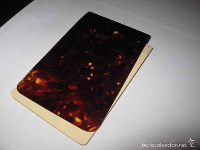 Escribanía: Libreta de anotar antigua en Carey pequeña libretita medida medida 10,7 x 6,2 cm. - Foto 3 - 56517464