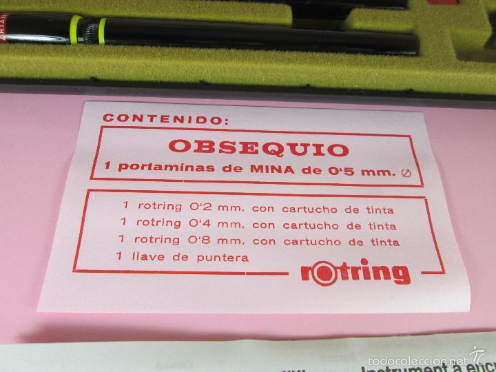 Escribanía: ANTIGUO ESTUCHE ESTILÓGRAFOS+PORTAMIN-GERMANY- ROTRING-NEGROS(DE LOS BUENOS)-NOS-PERFECTO-VER FOTOS. - Foto 16 - 183888630