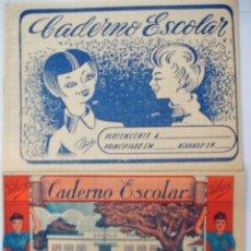 Escribanía: 2 CUADERNOS ESCOLARES - COLEGIO - ESCUELA - MADE IN PORTUGAL AÑOS 40/50. Lote 57264613