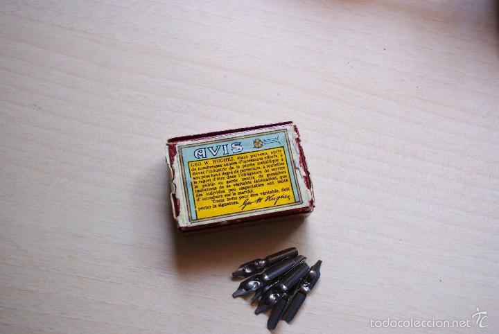 Escribanía: caja de carton plumillas geo.w.hughes nº 816/2 redonde birmingam - Foto 2 - 57427616