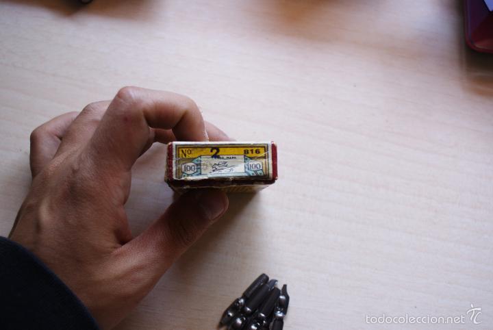 Escribanía: caja de carton plumillas geo.w.hughes nº 816/2 redonde birmingam - Foto 3 - 57427616