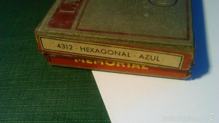 Escribanía: CAJA DE LÁPICES MEMORIAL MASATS 4312 EXÁGONO AZUL - CON 11 UNIDADES - Foto 2 - 57670995