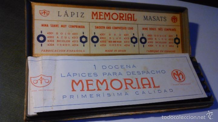 Escribanía: CAJA DE LÁPICES MEMORIAL MASATS 4312 EXÁGONO AZUL - CON 11 UNIDADES - Foto 3 - 57670995