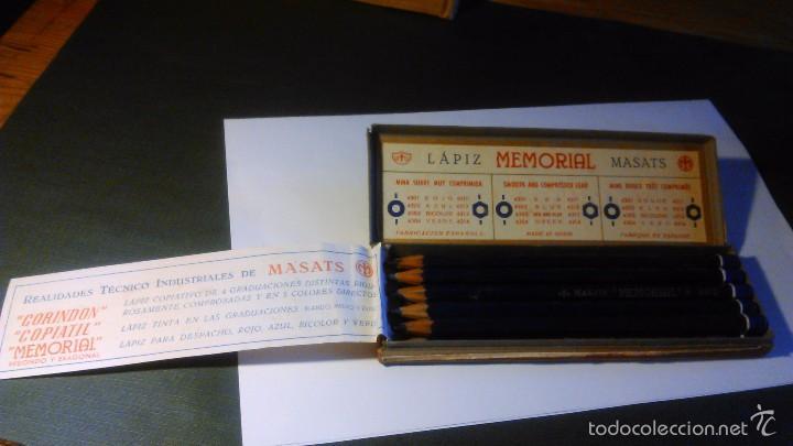 Escribanía: CAJA DE LÁPICES MEMORIAL MASATS 4312 EXÁGONO AZUL - CON 11 UNIDADES - Foto 4 - 57670995