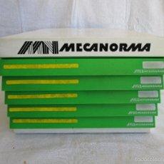 Escribanía: CAJONES MECANORMA CON MONTON DE LAMINAS MECANORMA Y LETRASET. Lote 145005589