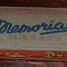 Escribanía: ANTIGUA CAJA DE LÁPICES PARA DESPACHO MEMORIAL MASATS 4301 ROJO - CON 7 UNIDADES. Lote 58488286