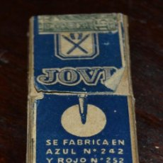 Escribanía: CAJA ESTUCHE 3 MINAS AZULES JOVI BARCELONA .COMPLETO MINAS NUEVAS Nº 242 4,2 MM DIAMETRO 80 MM . Lote 58488682