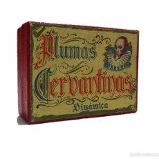 Escribanía: ANTIGUA CAJA DE PLUMAS PLUMILLAS CERVANTINAS DINAMICA. Lote 58603680