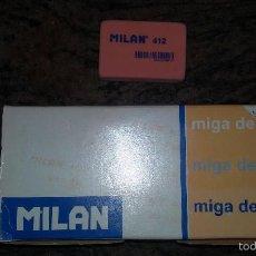 Escribanía: CAJA DE 12 GOMAS MILAN MIGA DE PAN 412. Lote 60193667