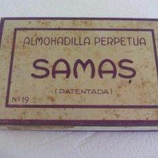 Escribanía - Antigua Almohadilla Perpetua para tampón de tinta. Samas. Patentada nº 19. De metal. - 60987559