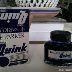 Escribanía: ANTIGUO TINTERO PARKER SUPER QUINK. TINTA AZUL. Lote 61333147