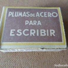 Escribanía: CAJA DE PLUMILLAS. CLASE SUPERIOR. CON 100 PLUMILLAS.. Lote 62196376
