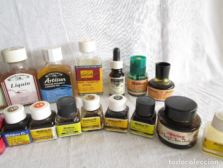 Escribanía: gran lote de botes de tinta y barnices pelikan ecoline ... - Foto 4 - 67576541