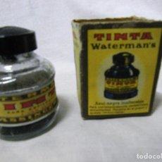 Escribanía: TINTERO WATERMAN'S VACIO CON SU CAJA ORIGINAL. Lote 71704671