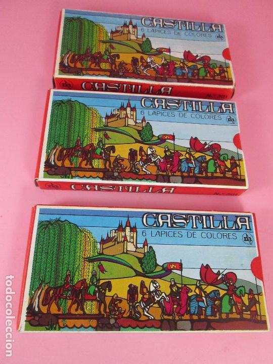 Escribanía: lote 3 cajas-lápices/pinturas-castilla-nos-ver fotos - Foto 2 - 74165615