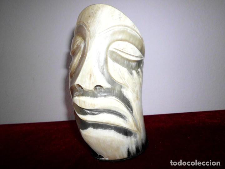 Escribanía: Vintage Lapicero tallado de cuerno o asta de Toro - Foto 2 - 74849875