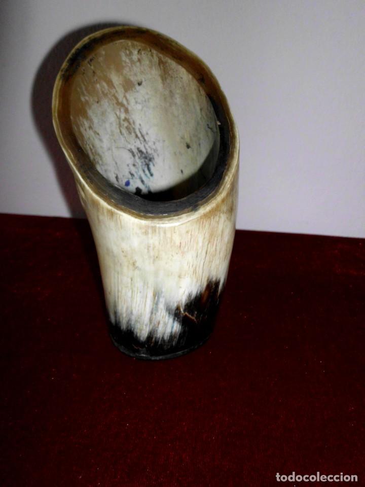Escribanía: Vintage Lapicero tallado de cuerno o asta de Toro - Foto 5 - 74849875