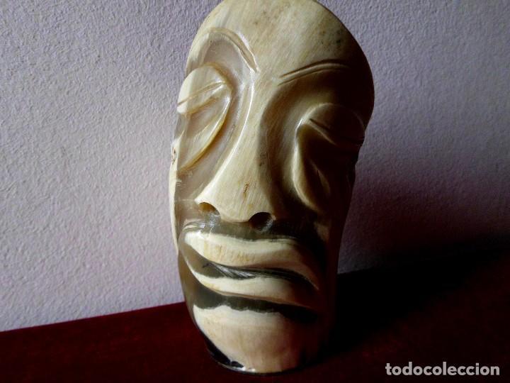 Escribanía: Vintage Lapicero tallado de cuerno o asta de Toro - Foto 6 - 74849875