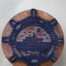 Escribanía: 2 ESPECTACULARES SELLOS CAUCHO. ASTILLEROS RICARDO PALAU PUERTO VALENCIA. CONSTRUC. NAVAL DESDE 1929. Lote 74868831