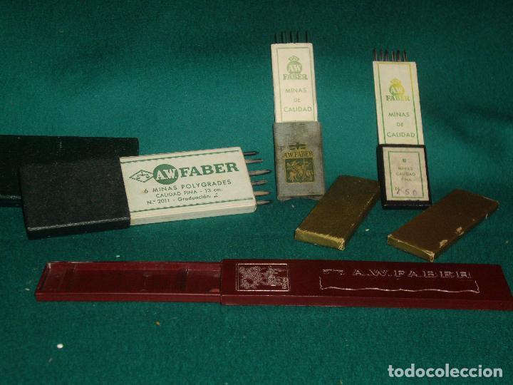 CAJAS DE MINAS A.W. FABBER (Plumas Estilográficas, Bolígrafos y Plumillas - Plumillas y Otros Elementos de Escribanía)