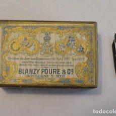 Escribanía: CAJA DE PLUMILLAS BLANZY POURE & CIE Nº808. Lote 77324157