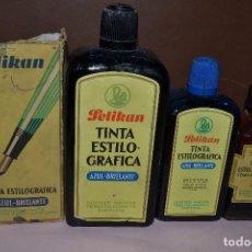 Escribanía: BOTELLAS TINTA PELIKAN. Lote 79038513