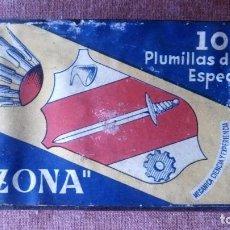 Escribanía: CAJA 100 PLUMILLAS DE ACERO ESPECIAL TIZONA, SIN ABRIR. Lote 80842831