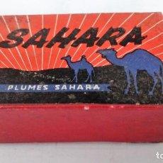 Escribanía: CAJA DE PLUMILLAS SAHARA - MADE IN ITALY, MEDIDAS 7 X 4,5 X 3 CM. Lote 82103416