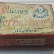 Escribanía: CAJITA PLUMAS CERVANTINAS CON PLUMAS. Lote 83844715