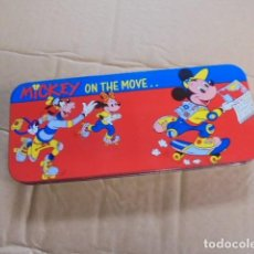 Escribanía: PLUMIER ESCOLAR DISNEY LATA - COPYWRITE - TOTALMENTE A ESTRENAR / IMPECABLE - TIN PENCIL - DISNEY. Lote 86400960