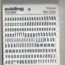 Escribanía: LETRAS TRANSFER EDDIONG 7,5 MM. REF 1333. Lote 86933052