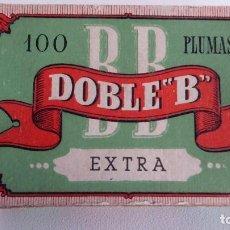 Escribanía: CAJA CON 91 PLUMILLAS DOBLE B EXTRA. Lote 87376068