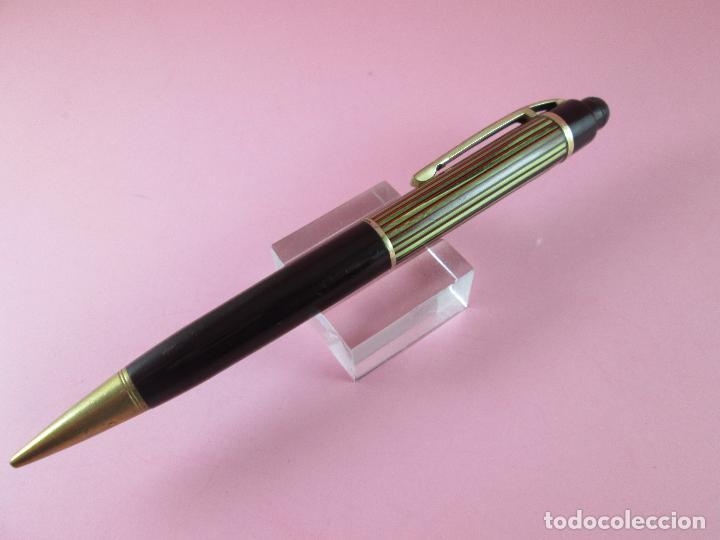 Escribanía: 4875·/portaminas-eversharp SKYLINE-usa-striped green & burgundy-buen estado-punta dorada-ver fot - Foto 6 - 90128816
