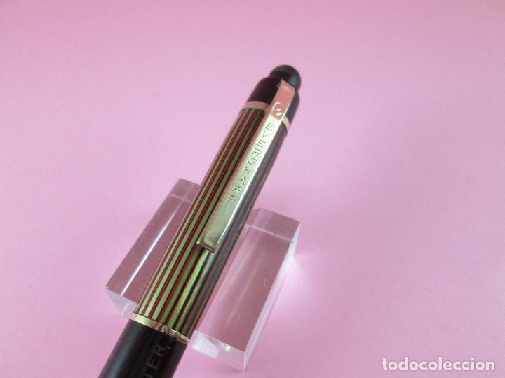 Escribanía: 4875·/portaminas-eversharp SKYLINE-usa-striped green & burgundy-buen estado-punta dorada-ver fot - Foto 9 - 90128816