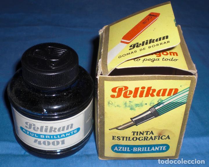 MEDIO BOTE TINTA PELIKAN 1965 (Plumas Estilográficas, Bolígrafos y Plumillas - Plumillas y Otros Elementos de Escribanía)