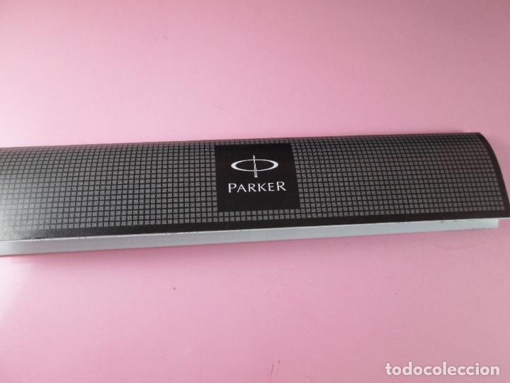 Escribanía: *(5865)-portaminas-parker jotter-france-acero cepillado-nuevo-caja-papel-top diferente(saliente) - Foto 5 - 92153760