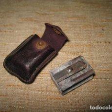 Escribanía - afila lapices antiguo con funda - 94504674
