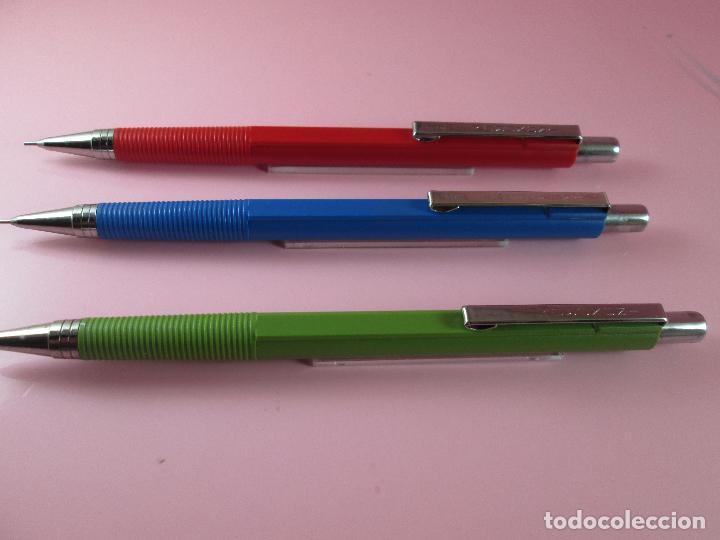 Escribanía: *5834-lote 3 portaminas-inoxcrom 0,5-ESPAÑA-DESCATALOGADOS-rojo+azul+verde-nos-ESCASOS-ver fotos - Foto 3 - 133633069